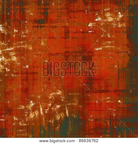 Designed grunge texture or background. With different color patterns: brown; red (orange)