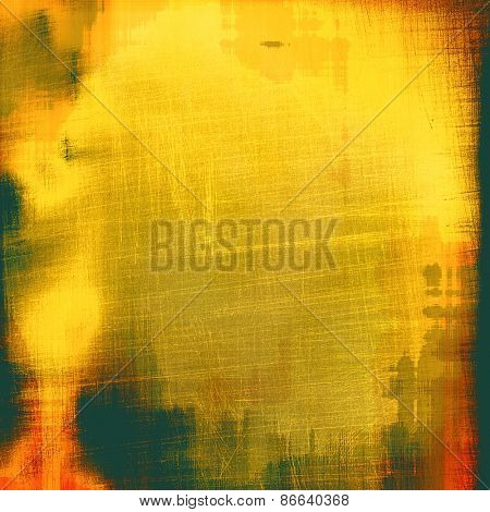 Abstract textured background designed in grunge style. With different color patterns: yellow (beige); brown; gray