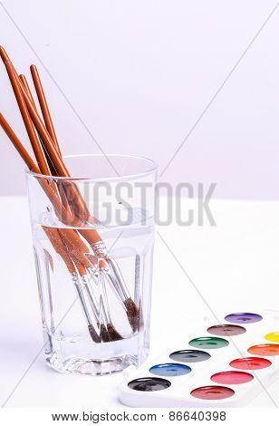 Colors, art. Colorful watercolor paint