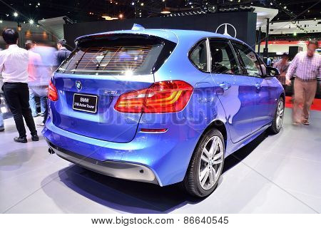 Bangkok - March 26 : Bmw 218I Active Tourer On Display At 36Th Bangkok International Motor Show On M