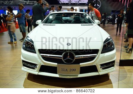 Bangkok - March 26 : Mercedes Benz Slk 200 Carbon Look, Sport Convertible Car, On Display At 36Th Ba