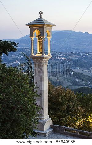 Panoramic View In San Marino In Summer In The Late Evening