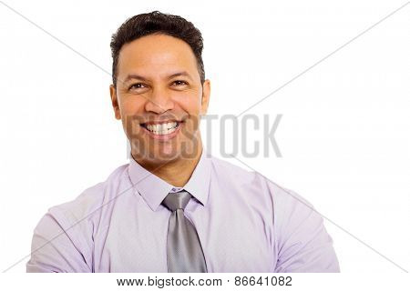 close up portrait of good looking middle aged business man
