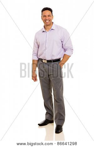 attractive middle aged man looking at the camera