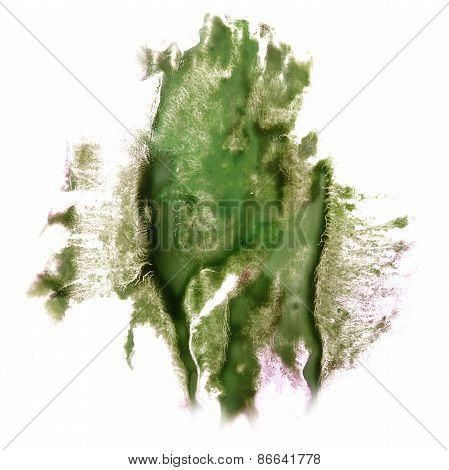 Abstract dark green watercolor hand painted background insult Ro