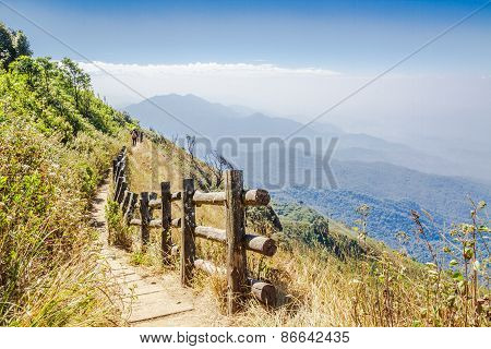 Footpath Along Mountain