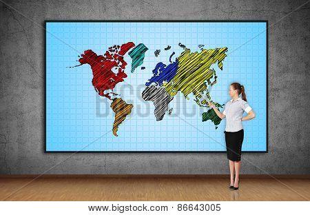 World Map On Screen