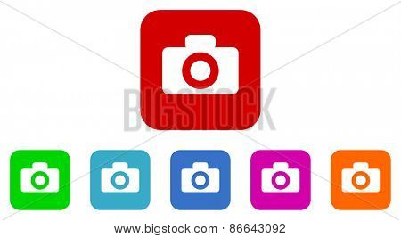 photo vector icons set