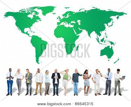 Green Business Environment Global Conservation Concept