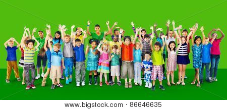 Children Kids Childhood Friendship Happiness Diversity Concept