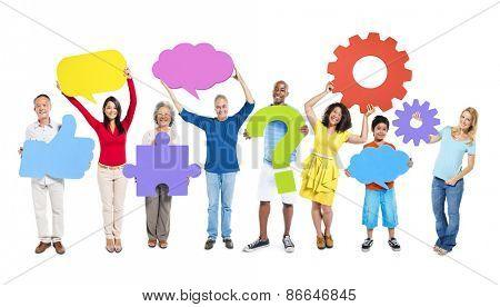 Diverse Diversity Ethnic Ethnicity Unity Icon Symbol Concept