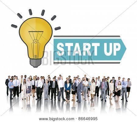 Start up Ideas Teamwork Inspiration Concept