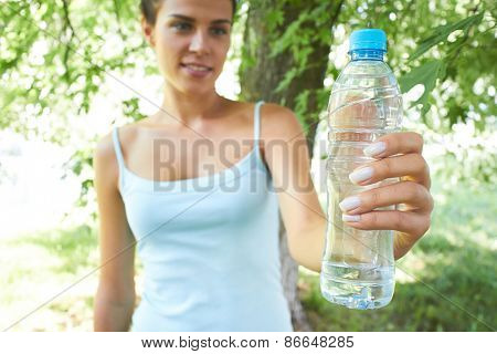 woman with water