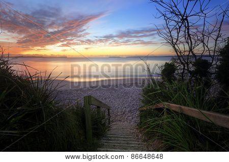 Sunrise Nelson Beach Jervis Bay Australia