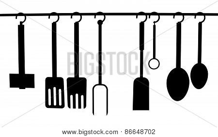 Vector Of A Set Of Kitchen Utensils