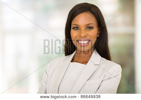 beautiful young african entrepreneur in modern office