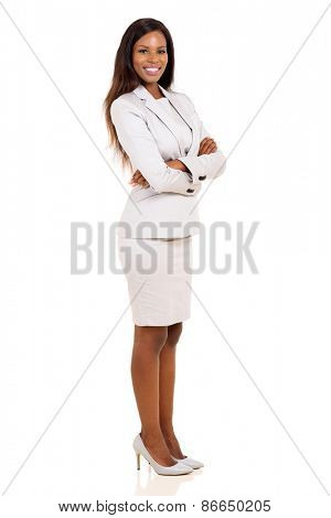 portrait of african business woman with arms folded
