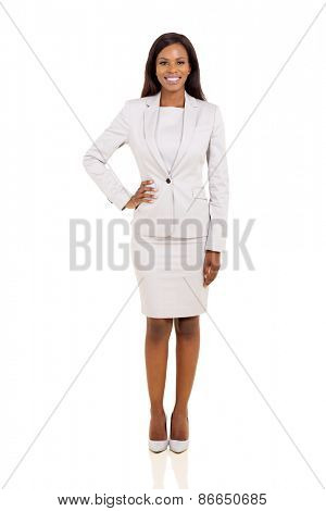 beautiful young businesswoman isolated on white