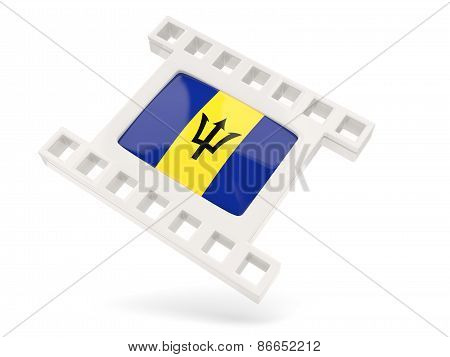 Movie Icon With Flag Of Barbados