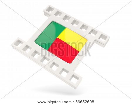 Movie Icon With Flag Of Benin