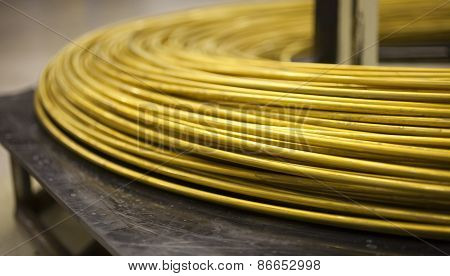 Pile Of Thick Brass Wire