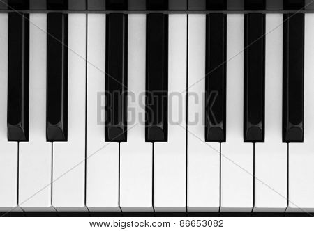 Closeup Of Piano Key