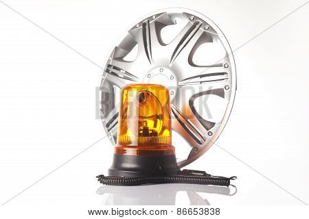 alloy wheel and road emergency light
