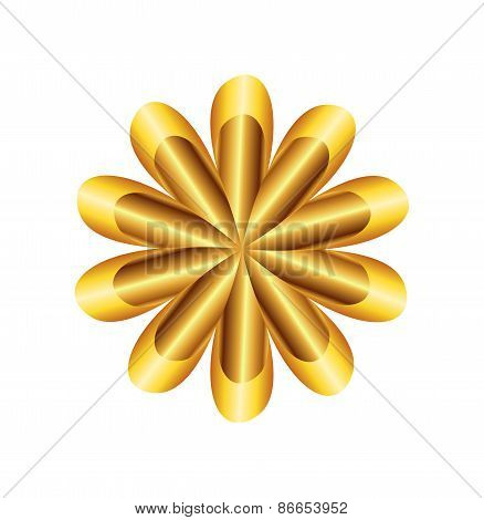 Flower Golden Ratio Circular symbol