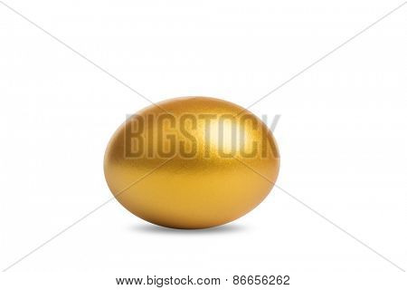 Golden Egg with clipping path