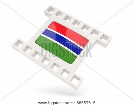 Movie Icon With Flag Of Gambia