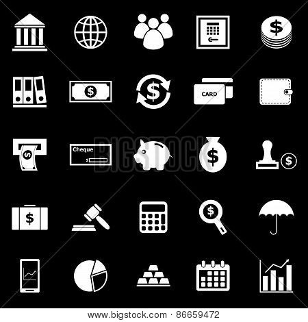 Banking Icons On Black Background