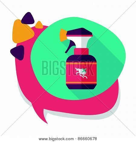 Pet Flea Spray Flat Icon With Long Shadow,eps10
