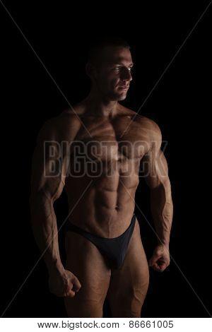Bodybuilder Posing.