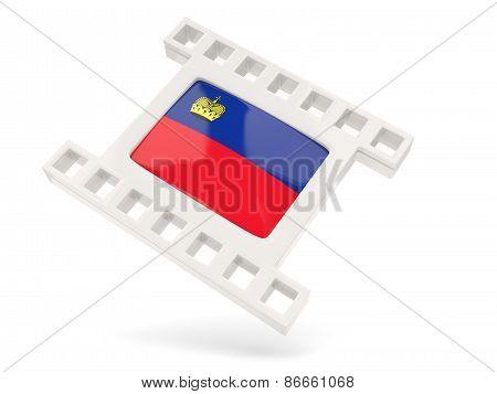 Movie Icon With Flag Of Liechtenstein