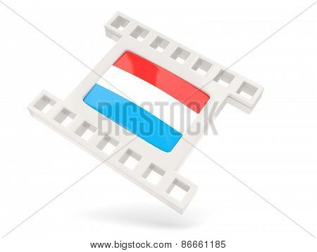 Movie Icon With Flag Of Luxembourg