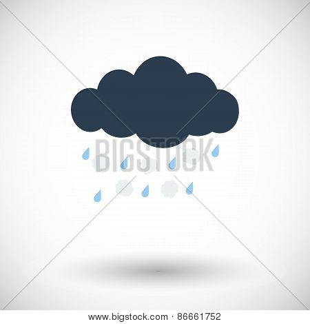 Hagel single icon. Vector illustration.