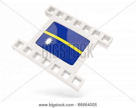 Movie Icon With Flag Of Nauru