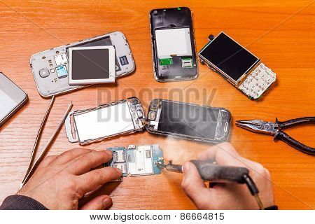 Soldering, Repair Broken Phone