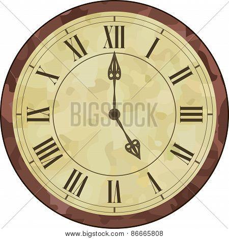 Antique roman numeral clock
