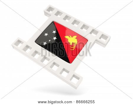 Movie Icon With Flag Of Papua New Guinea