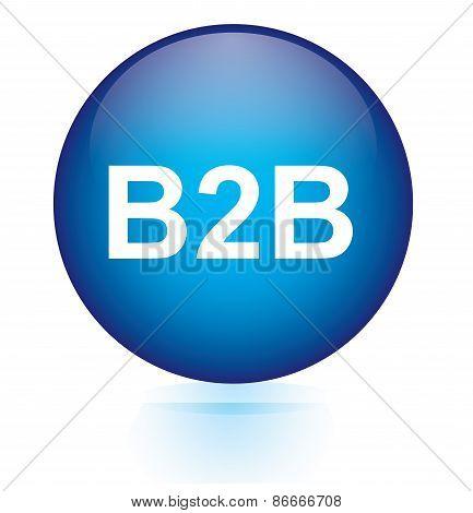 B2B blue circular button