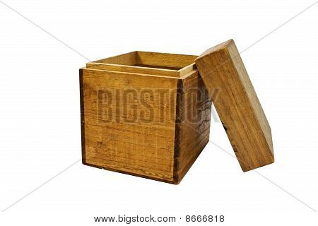 Old Opened Wooden Box