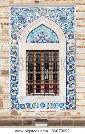 Arabic Style Tiling Pattern, Decoration Of Old Mosque Window