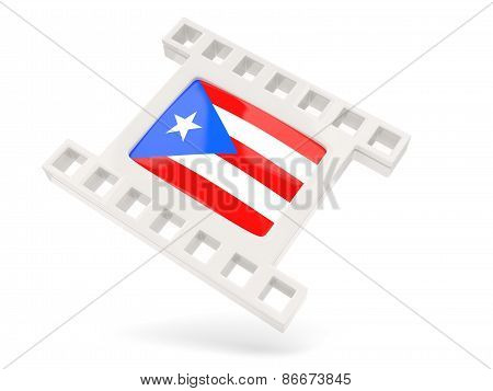 Movie Icon With Flag Of Puerto Rico