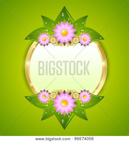 Flower Plaque Template