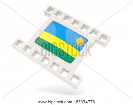 Movie Icon With Flag Of Rwanda