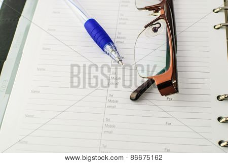 Ballpoint Pen On Pape