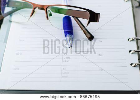 Ballpoint Pen On Paper