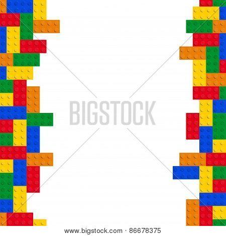 Blocks - Bricks Vector Left And Right Seamless