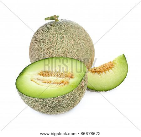 Melon Fresh Fruit Isolated On A White Background